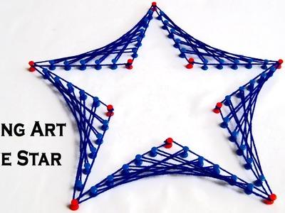 String Art Designs - Make Blue Star From String Art by Sonia Goyal