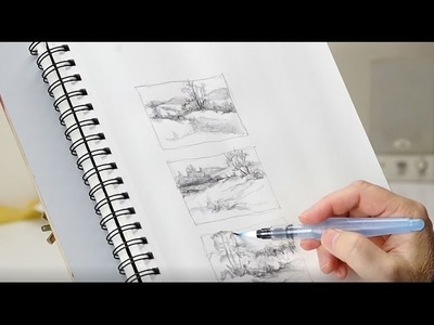 The Mind of Watercolor with Steve Mitchell - Lesson 1 - Landscape Part 1