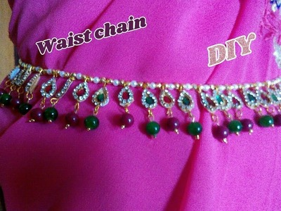 2 in 1 waist chain and long necklace - How to make this waist chain | jewellery tutorials