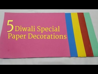 5 Diwali. Christmas Special Paper Decorations | DIY Easy Paper Decorations