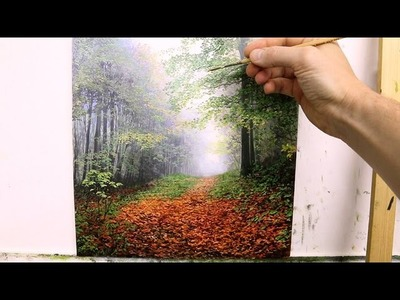#60 How to paint a fall Landscape | Oil Painting | Michael James Smith