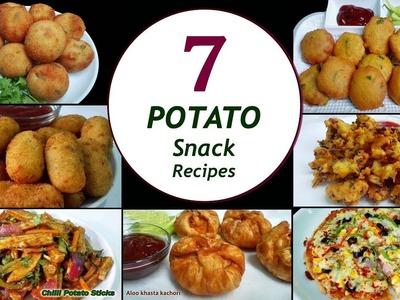 7 Potato Snack Recipes || 7 Days.Week Aloo Snacks || Simple & Easy Recipes