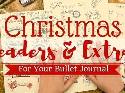 Christmas Headers and Icons || BULLET JOURNAL