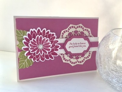 """Coffee and a """"Special reason"""" card Stampin' Up products"""