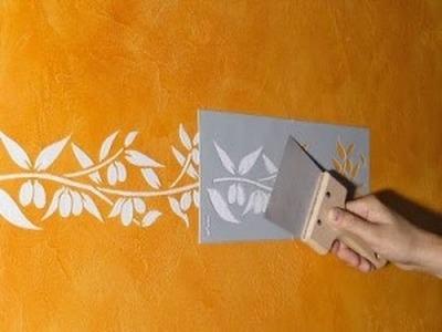 Como fazer stelcil textura com molde de classificador e massacorrida