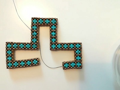 CRAW stitch Bead - Cross Cubic RAW open shape - Cubic Right Angle Weave with beads