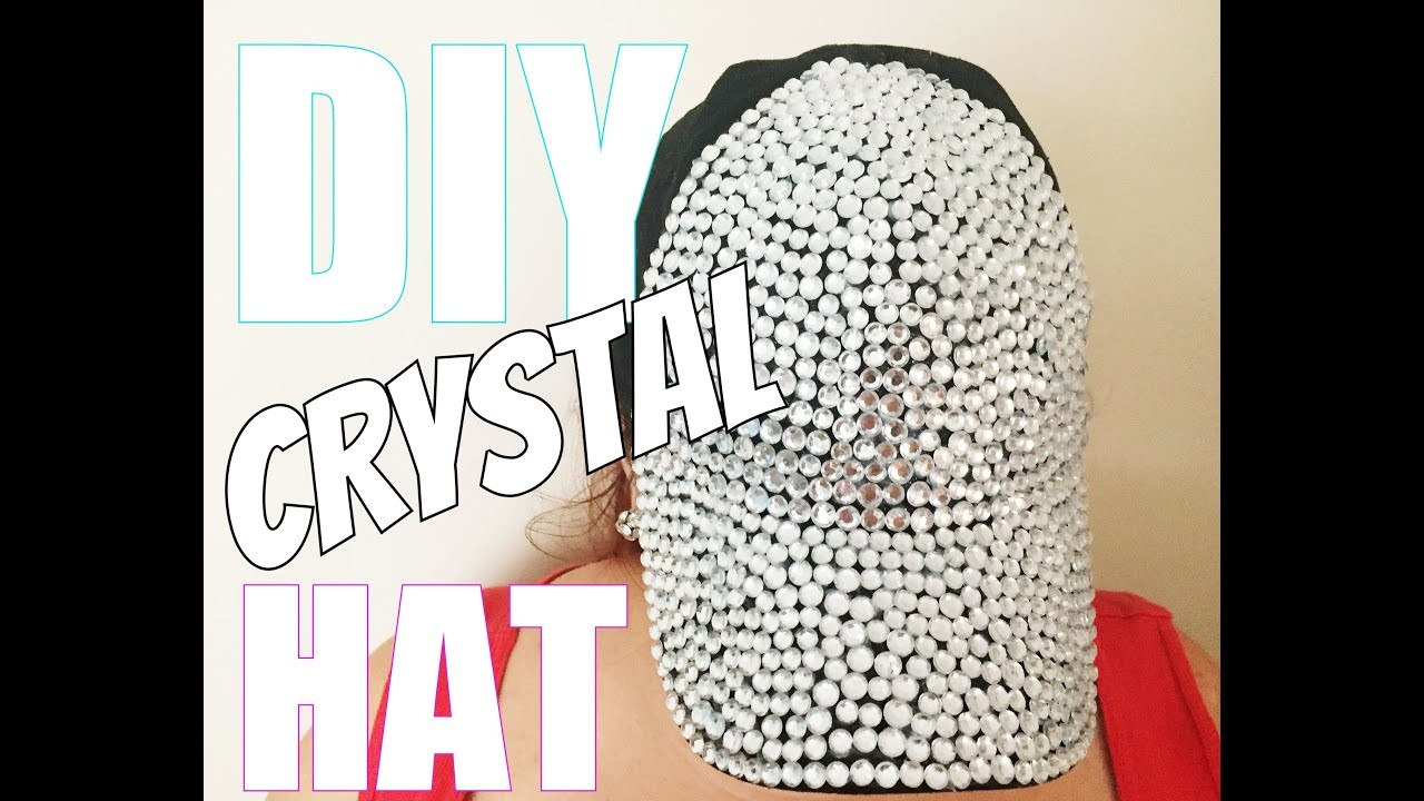 DIY CRYSTAL HAT: How to Make a $15 Rhinestone Bling Baseball Cap Fashion Craft