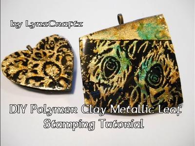 Diy Polymer Clay Metallic Leaf Stamping Tutorial