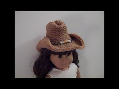 Dollie Cowgirl Partner - Part 1: Cowgirl Hat - Red Heart Yarn Pattern