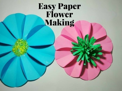 Easy Paper Flower Making Craft For Children Step By