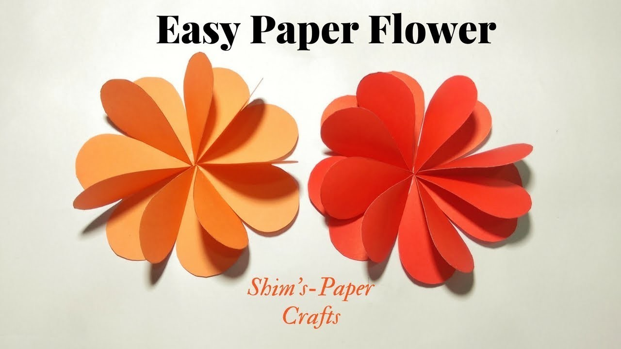 Making Easy Paper Flower Step By For Home Decoration