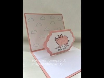 Easy piggy pop up card Stampin' Up! products