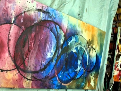 Fun Fast Easy Abstract Painting 'Shudder' How To Start to Finish