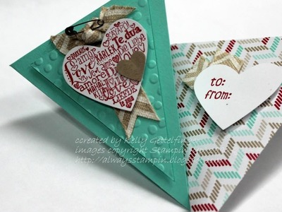 FUN FOLDS Triangle Card and Envelope with Kelly Gettelfinger