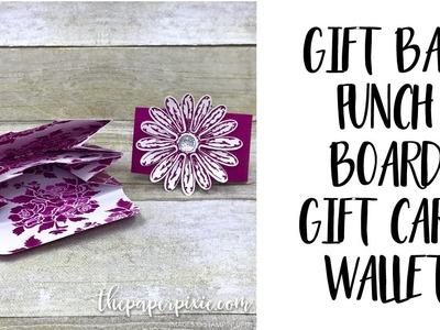 Gift Bag Punch Board Gift Card Wallet