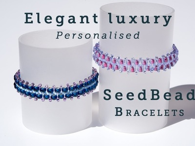 How to create Personalised Seed Bead Bracelets for beginners.