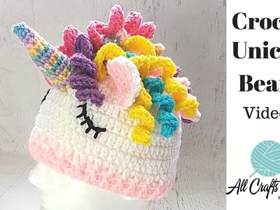 How to Crochet Unicorn Hat  ( Video Two ) easy diy step-by-step