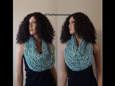 How to Knit a Cowl-Neck Warmer, by ThePatternFamily, Video # 188