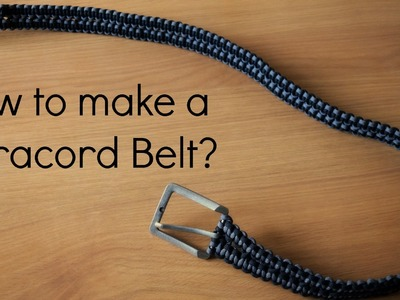 How to make a Paracord Belt & Timelapse.