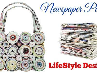 How to make a purse using newspaper ( LifeStyle Designs Unique Idea )