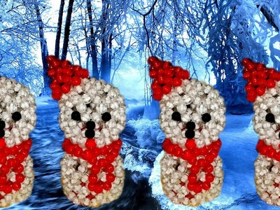 How To Make Beaded SnowMan(Part-02)||পুতির পুতুল||كيفية جعل ثلج مطرز||Beaded Doll