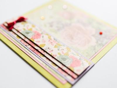 How to make : Easy Greeting Card for Birthday | Łatwa Kartka Okolicznościowa - Mishellka #259 DIY