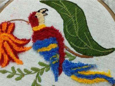 How to Make Fur Stitch with the help of Herringbone stitch