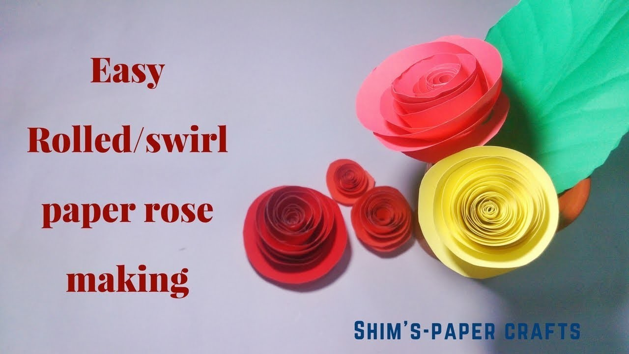 Paper How To Make Rolled Paper Rose Step By Stepshims Paper Crafts