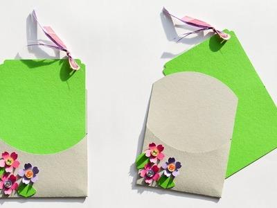 How to make : Simple Envelope with Card | Prosta Koperta z Kartką - Mishellka #264 DIY
