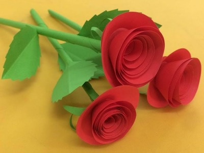 How to Make Small Rose Flower with Paper | Making Paper Flowers Step by Step | DIY-Paper Crafts