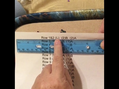How to read a peyote pattern.