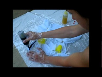 How To Tie Dye Flat Cloth Diapers - Part 2