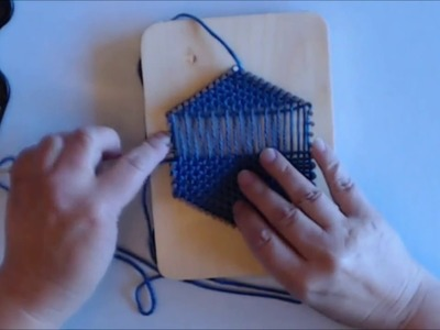 How to Weave a Hexagon on a Pin Loom (All-In-One Version)