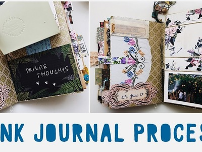 JUNK JOURNAL WITH ME - Ep 05 | Journalling Process | Vintage Journal