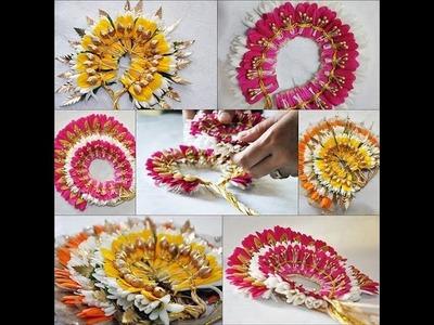 Latest Bridal hair decoration with flowers Designs_Poola Jada Veni designs!!!