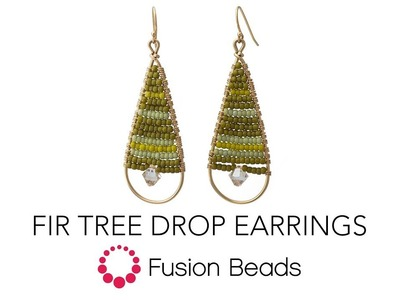 Learn how to create the Fir Tree Drop Earrings by Fusion Beads