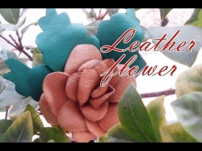 Leather flower: ROSE.