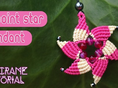 Macrame tutorial: The Six point star pendant with simple color scheme