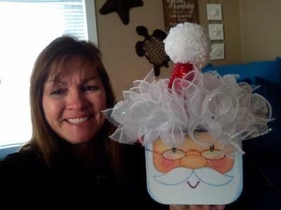Make a Santa hat for the Santa gift box from Dollar Tree