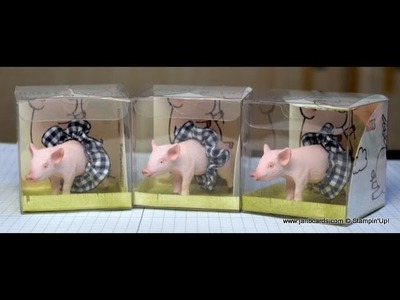 No.307 - Laetitia's Little Piggy Box - JanB UK Stampin' Up! Demonstrator Independent
