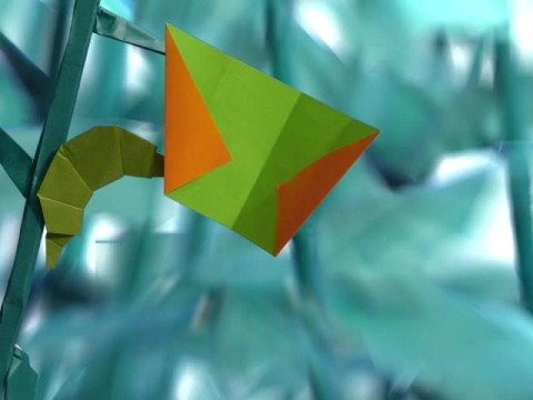 ORIGAMI BUTTERFLY [ORIGAMI STOP MOTION ANIMATION]