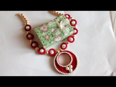 Silk thread Necklace in modern, trendy and stylish in a simple way -  SSC Arts 323