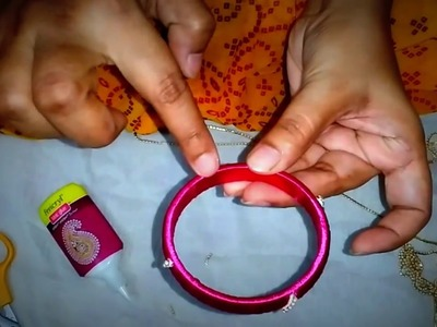 Simple Silk thread bangle making in detail for beginners  (Hindi)