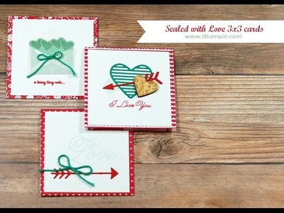 Stampin' Up! Sealed with Love 3x3 Valentine's Day Cards