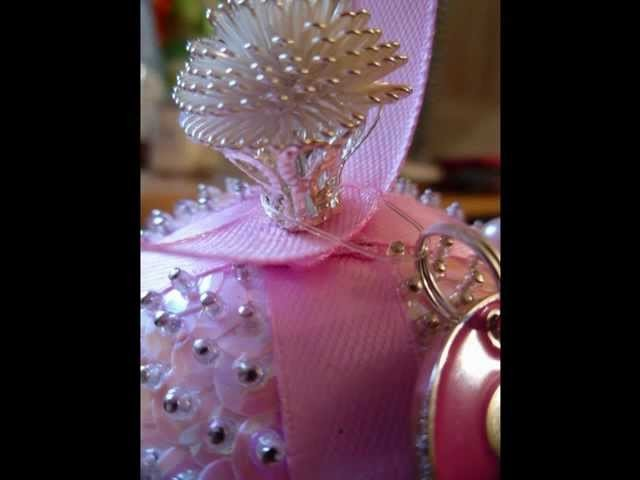 """""""Tickled Pink"""" Christmas Ornament"""