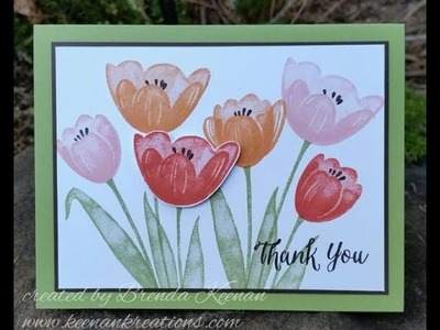 Tranquil Tulips card by Stampin' Up!