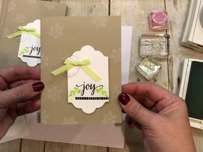 3 Simple Christmas Cards with FUN colors: November Paper Pumpkin Alternatives