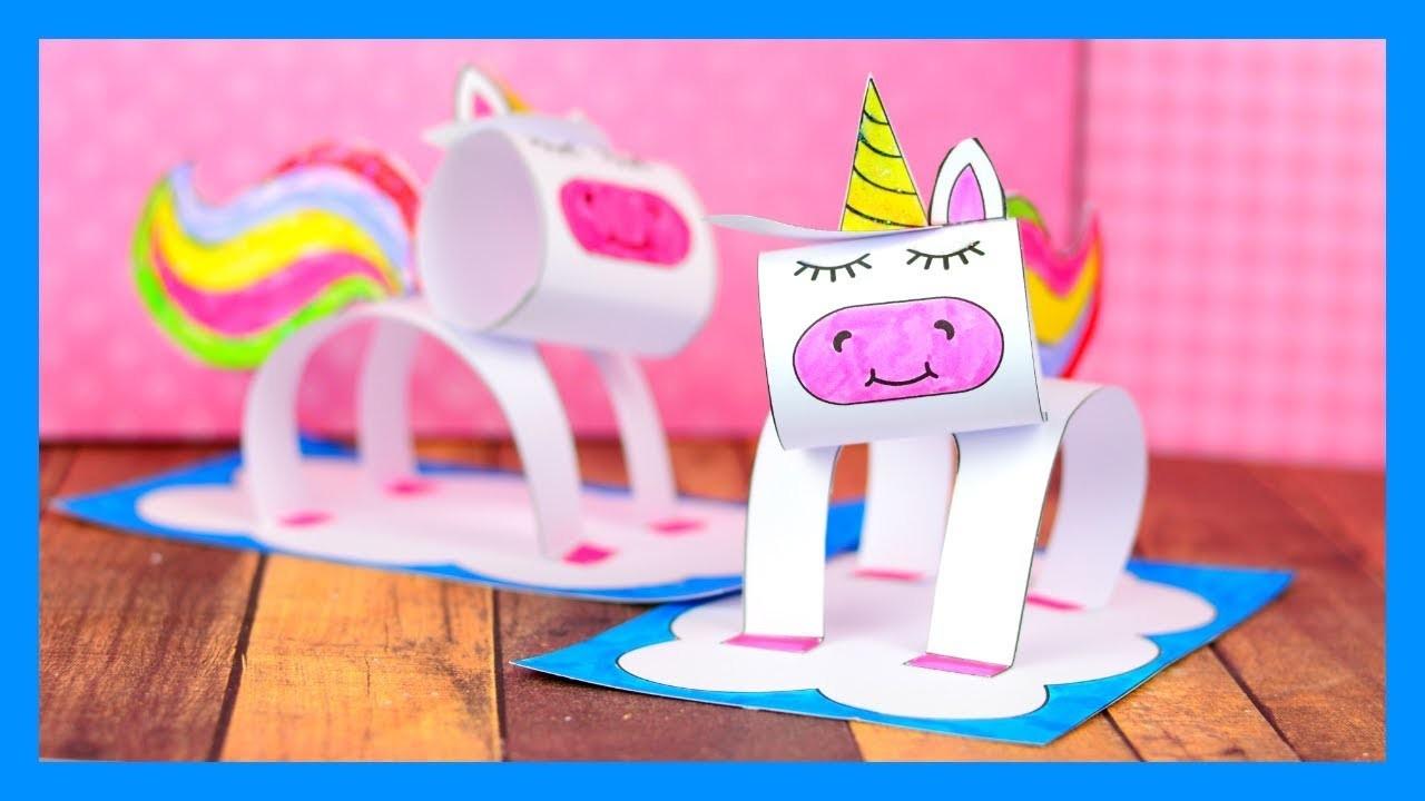 3D Unicorn Craft - fun paper craft idea for kids