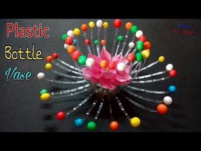 Best Out Of Waste Craft - Empty Plastic Bottle Vase Making - Water Bottle Recycle Flower Vase Art