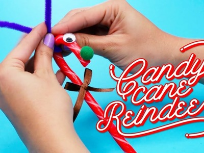Candy Cane Reindeer Craft Decoration for Christmas - EZPZ ideas